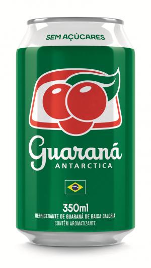 Guaraná Antarctica Sem Açúcares Lata 350ml