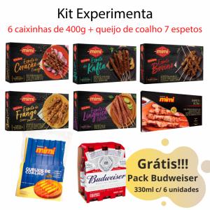 Kit Experimenta - Todos nossos sabores em caixinhas de 400g + queijo de coalho. Grátis Pack Budweiser