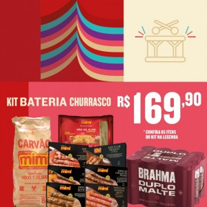 Kit Bateria Churrasco