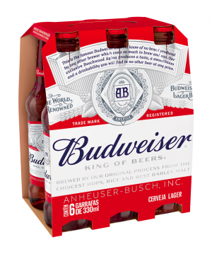 Budweiser Pack Long Neck 330ml c/ 6 Unidades