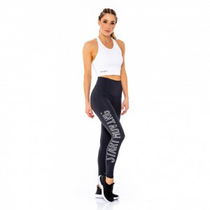 Legging Sustentare Start Moving Feminina – Preto e Branco