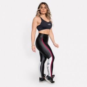 Legging Cirrê Physical Feminina – Preto e Bordô