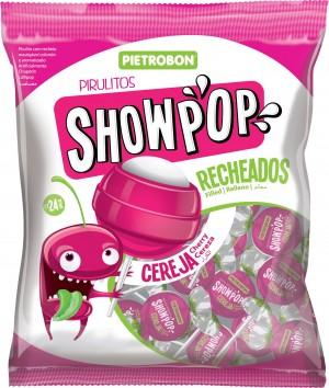 Pirulito Bola Cereja Showpop Pietrobon 200g