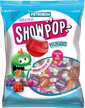 Pirulito Bola Sortido Showpop Pietrobon 200g