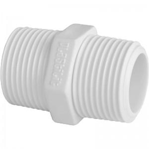 Nípel Branco c/ Rosca 1'' - Pacote c/20un