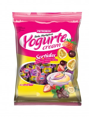 Bala Mastigável Yogurte Sortida Pietrobon 600g
