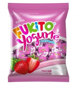 Bala Mastigável Yogurte Morango Fukito Pietrobon 190g