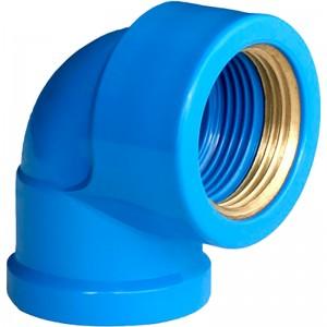 Joelho90º Azul Bucha Latão 25X3/4