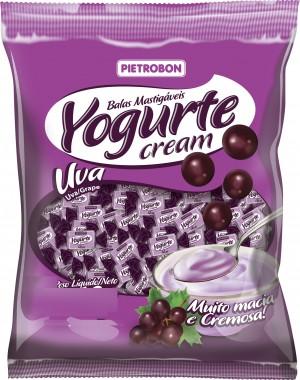 Bala Mastigável Yogurte Uva Pietrobon 600g