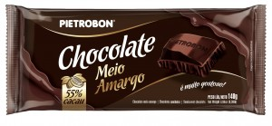 Chocolate Meio Amargo 55% Cacau 140g
