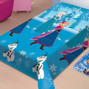 Manta Pol.Disney Soft Frozen Neve 1,50m x 2,00 AZ/CD
