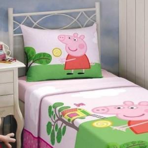 Jogo de Cama Solt.Est. Peppa Pig