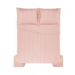 Colcha King Trussardi 2 Porta Travesseiros 300 Fios Cetim Grasso Rosa Perla