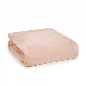 Cobertor Trussardi King 100% Microfibra Aveludado Piemontesi Rosa Perla