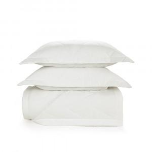 Colcha King Trussardi 2 Porta Travesseiros 200 Fios Percal Terenzi Branco