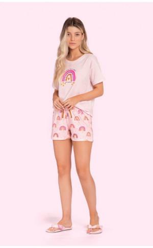 Pijama Curto Rainbow Sweetness P