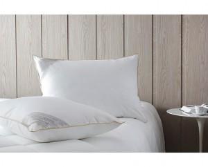 Kit travesseiro 50x70cm Buddemeyer toque de pluma algodão branco 2 peças