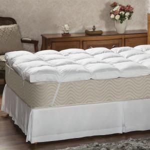 Pillow Top Queen 233 Fios Fibra Siliconizada - Plumasul