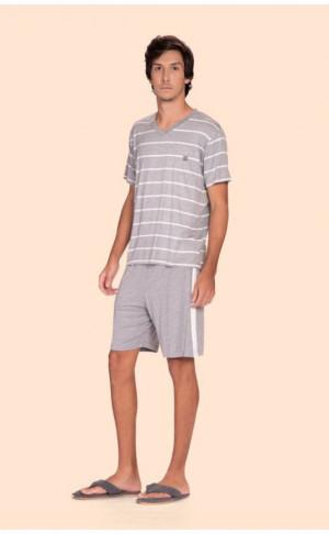 Pijama Curto Masculino Anywhere Mescla