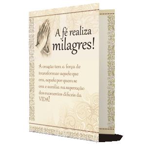 Cartão a fé Realiza Milagres! - M-258A