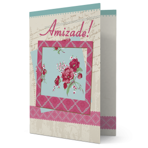 Cartão Uma boa amizade prolonga a vida - M-529A