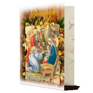Cartão Abençoado Natal.. Que os sinos do Natal sejam mensageiros..- MB-231