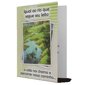 Cartão Igual o rio que segue o leito... - M-096