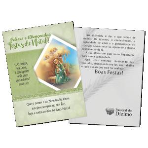 Postal Natal Dizimista - Felizes e abençoadas festas de Natal. - ND-006