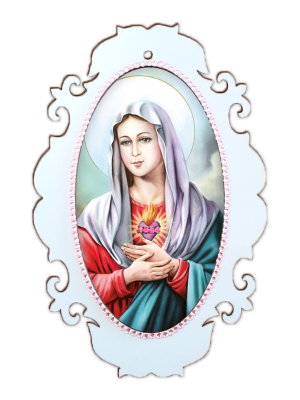 Medalhão Imaculado Coração de Maria - MSM-022