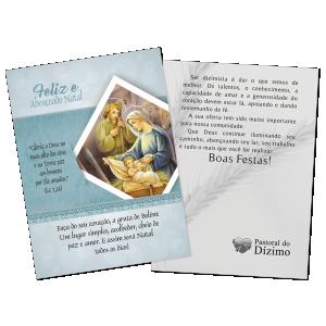 Postal Natal Dizimista - Feliz e abençoado Natal. -ND-004