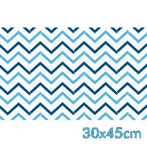 Saco de Presente - 30x45cm - Chevron Azul - Perolado - 50 unidades - SP-053