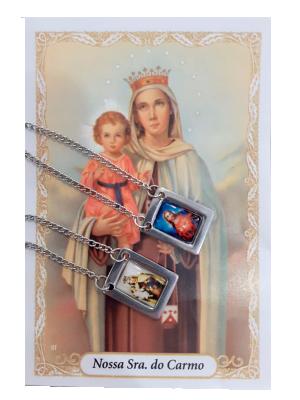 Escapulário Nossa Senhora do Carmo colorido - EI-027