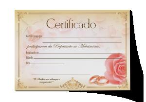 Certificado Preparação ao Matrimônio - CEP-027