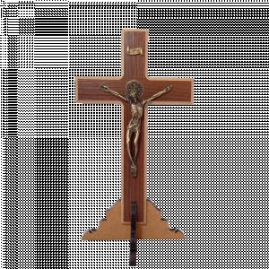 Crucifixo Madeira MDF com pé 23cm  - CC-009