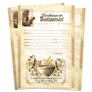 Lembrança de Batismo - LB-060