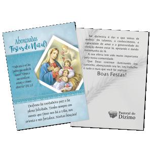 Postal Natal Dizimista - Abençoadas Festas de Natal - ND-002