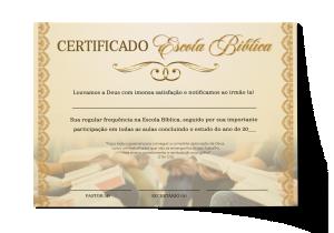 Certificado Escola da Bíblia - CEP-030
