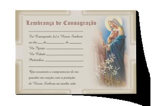 Lembrança de Consagração - CEP-036