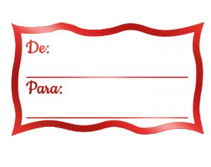 Etiqueta Decorativa - De / Para - AP-004