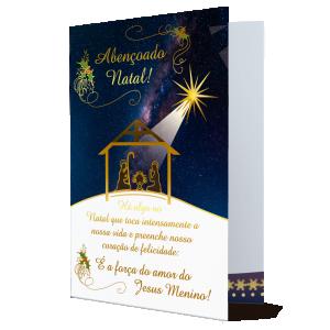 Cartão que o espírito do Natal encontre morada no coração...- MB-216