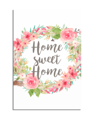 Placa Decorativa Home Sweet (Lar doce Lar) - PDF-008