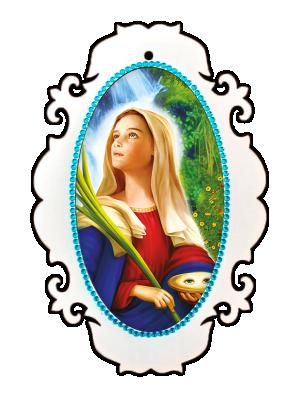 Medalhão Santa Luzia - MSM-034