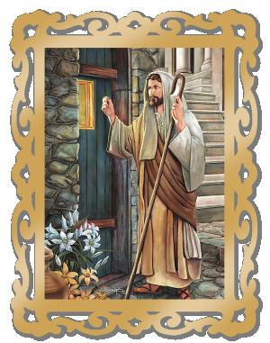 Quadro MDF Jesus Batendo à porta - QG-001