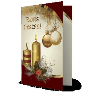 Cartão Há algo no Natal que toca intensamente nossas vidas e preenche nossos corações de felicidade: - NH-043