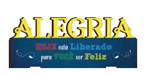 Placa Decorativa de Mesa Alegria - PDM-003
