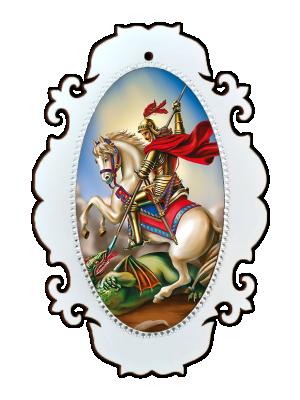 Medalhão São Jorge - MSM-028