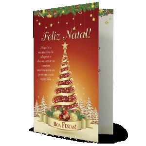 Cartão Que este Natal seja repleto de alegrias e que todos tenhamos muita saúde... - NH-016