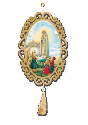 Adorno Oval Nossa Senhora de Fátima - A-017