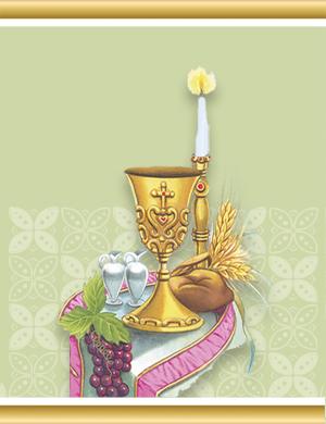 Adesivo Sacramentos Eucaristia - 5 cartela com 60 adesivos - AS-003