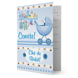 Convite Um lindo Bebê vai nascer - CV-058